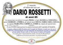 Necrologio di Rossetti Dario