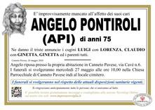 Necrologio di PONTIROLI ANGELO