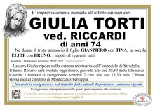 Necrologio di TORTI GIULIA