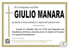 Necrologio di MANARA GIULIO