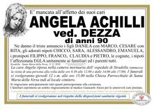 Necrologio di ACHILLI ANGELA