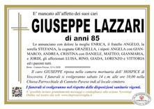 Necrologio di LAZZARI GIUSEPPE