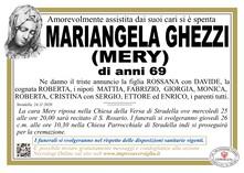 Necrologio di GHEZZI MARIANGELA (MERY)