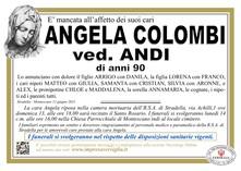 Necrologio di COLOMBI ANGELA