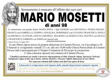 Necrologio di MOSETTI MARIO