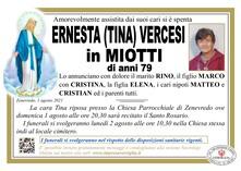 Necrologio di VERCESI ERNESTA (TINA)
