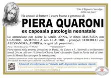 Necrologio di QUARONI PIERA