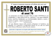 Necrologio di ROBERTO SANTI