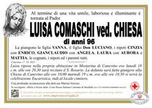 Necrologio di COMASCHI LUISA