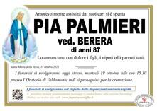 Necrologio di PALMIERI PIA