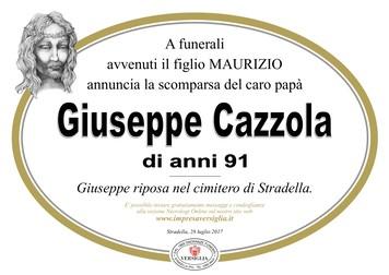 Necrologio di Giuseppe Cazzola