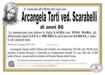 Necrologio di Torti Arcangela