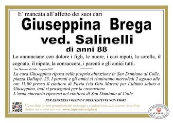Necrologio di Brega Giuseppina
