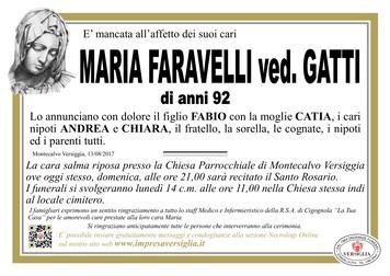 Necrologio di FARAVELLI MARIA