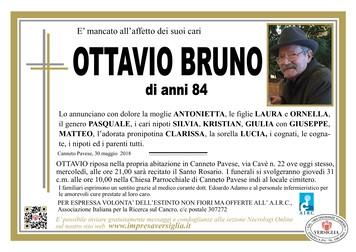 Necrologio di Ottavio Bruno