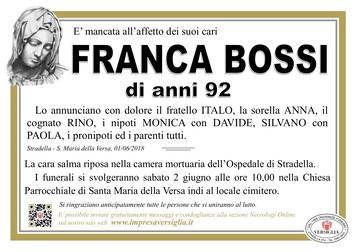 Necrologio di Franca Bossi