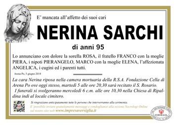Necrologio di Nerina Sarchi