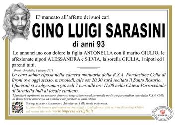 Necrologio di Gino Luigi Sarasini
