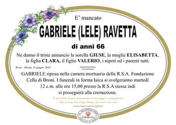 Necrologio di Ravetta Gabriele