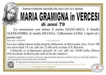 Necrologio di Maria Gramigna