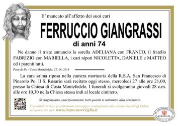 Necrologio di Giangrassi Ferruccio