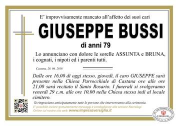 Necrologio di Giuseppe Bussi