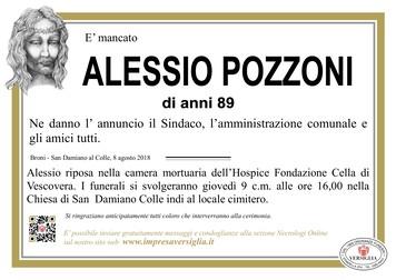 Necrologio di Pozzoni Alessio