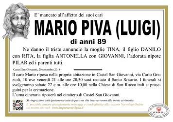 Necrologio di Mario Piva (Luigi)