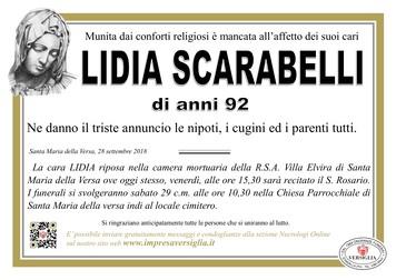 Necrologio di Lidia Scarabelli