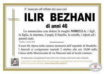 Necrologio di Ilir Bezhani