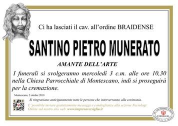 Necrologio di Santino Pietro Munerato