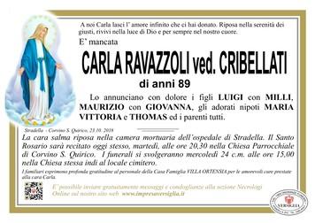 Necrologio di Carla Ravazzoli