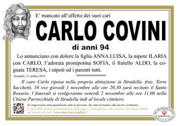 Necrologio di COVINI CARLO