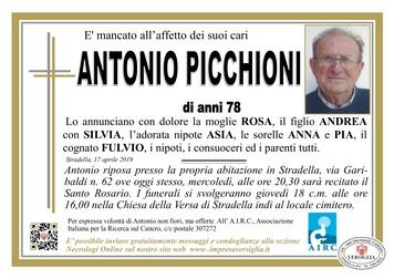 Necrologio di Antonio Picchioni