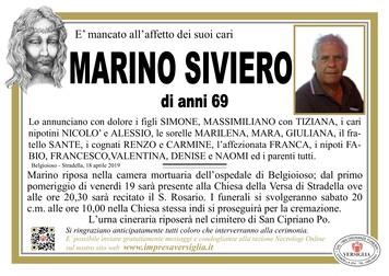 Necrologio di Marino Siviero