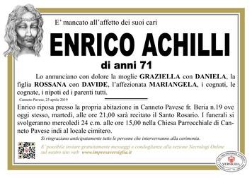 Necrologio di Enrico Achilli