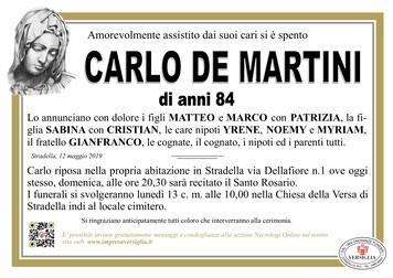 Necrologio di Carlo De Martini