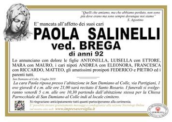 Necrologio di Salinelli Paolina