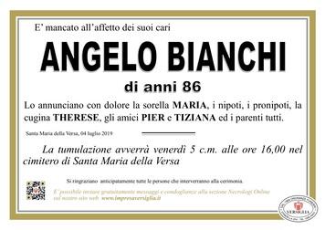 Necrologio di Bianchi Angelo