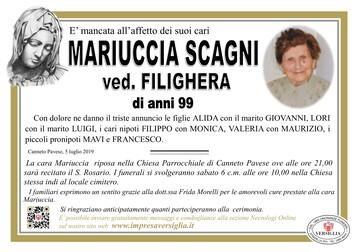 Necrologio di Mariuccia Scagni