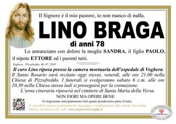 Necrologio di Lino Braga