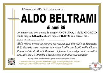 Necrologio di Aldo Beltrami