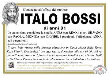 Necrologio di Bossi Italo
