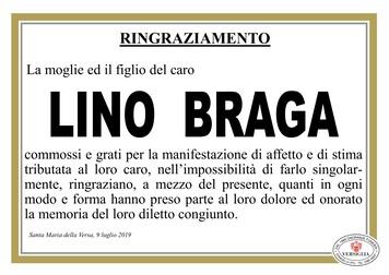 Ringraziamenti per Lino Braga
