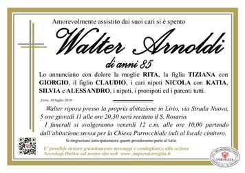 Necrologio di Walter Arnoldi