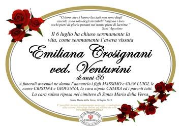 Necrologio di Crosignani Emiliana