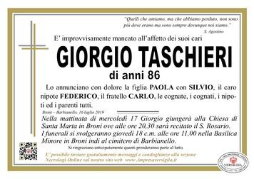 Necrologio di Taschieri Giorgio
