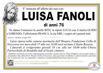 Necrologio di Luisa Fanoli