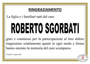 Ringraziamenti per Sgorbati Roberto