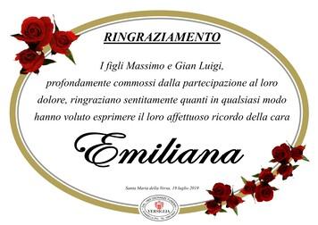 Ringraziamenti per Crosignani Emiliana